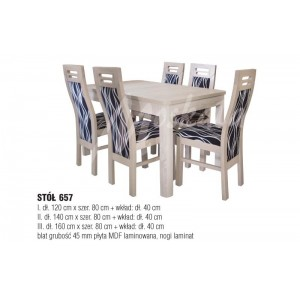 TABLE No 657 II