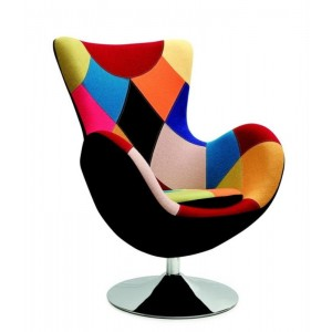 BUTTERFLY patchwork armchair