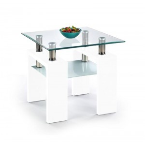 TABLE BASSE DIANA SQUARE BLANC